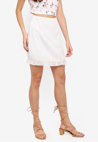 Something Borrowed white High Waist Fitted Skirt 2E371AA1C437EBGS_1