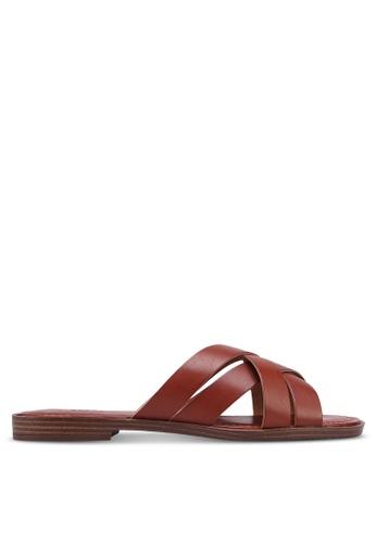 Anacapri 褐色 編織繞帶涼鞋 F22E7SH94B3EF2GS_1