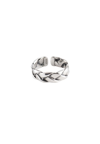 A-Excellence silver Premium S925 Sliver Twine Ring 05EA8ACD041812GS_1