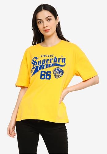 Superdry yellow Varsity 10 Box Tee - Original & Vintage 23582AAD3720B4GS_1