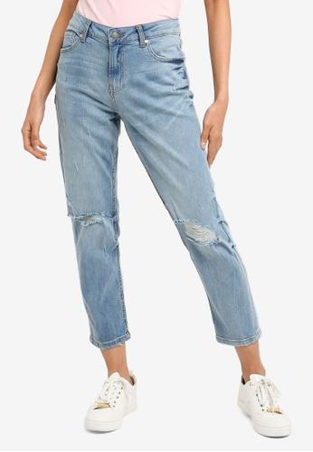 OVS blue Boyfriend Denim Slim Fit Jeans 8FDF4AAF97316AGS_1