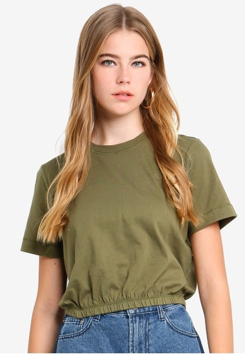Cotton On green Ivy Short Sleeve Waisted Tee 69909AA3EAE50BGS_1