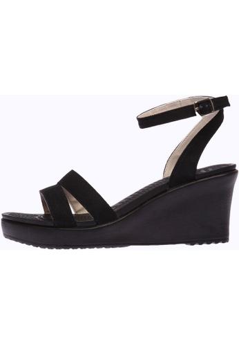 paperplanes black SNRD-212 Women Fashion Ankle Strap Aqua Wedge Sandals Shoes PA110SH83OYQHK_1