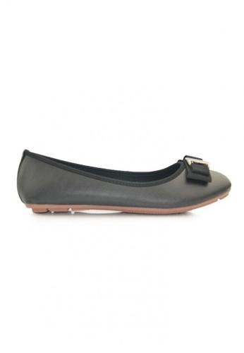 SHINE black Round Toe  Ballerina SH554SH29OSCSG_1