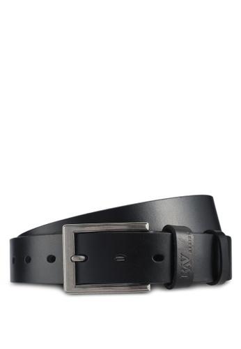 RAV Design black 35MM Leather Belt 17E0DACED9C838GS_1