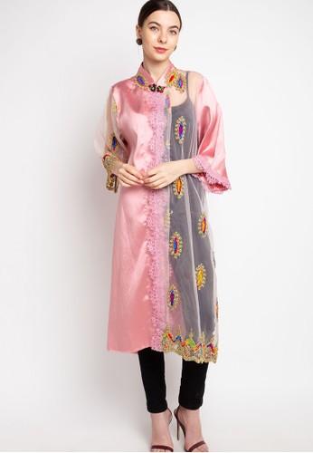 LUIRE by Raden Sirait pink FM Coat Monic Midi OIUD E40E9AA88FFAE8GS_1