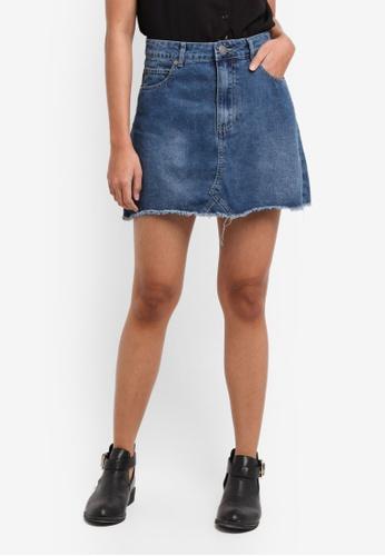 Cotton On blue The Re-Made Mini Denim Skirt D1FDEAA134E189GS_1