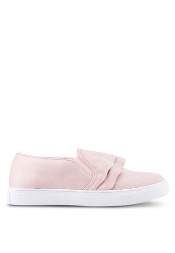 Velvet pink Ruffle Slip On A772CSH7FC91BAGS_1