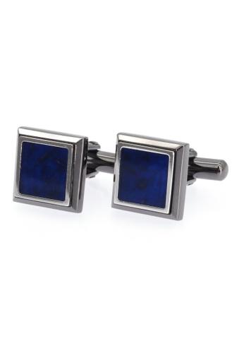 Enrico Coveri black and blue Blue Sodalite Cufflinks (CF-005-SOD) E6910AC1DA626DGS_1