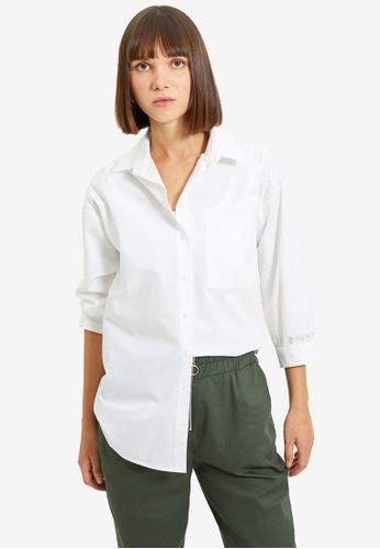 Trendyol white Ecru Shirt 0B82BAAC2E1B63GS_1