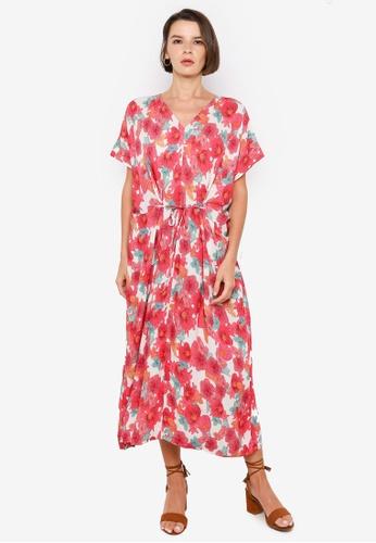 H&M pink and multi Patterned Kaftan DEA44AA695887BGS_1
