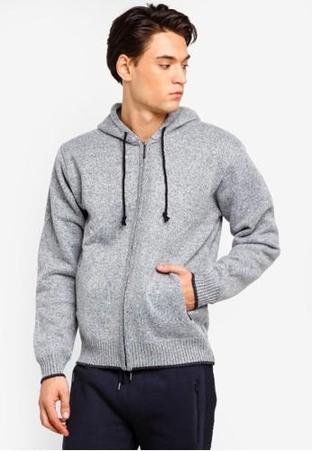 Brave Soul grey Zip Through Knitted Hoodie EE5FAAA4094C67GS_1