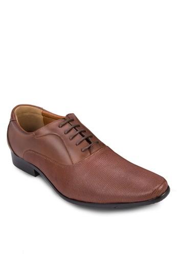 鵝卵紋尖頭繫帶皮鞋, esprit床組鞋, 鞋