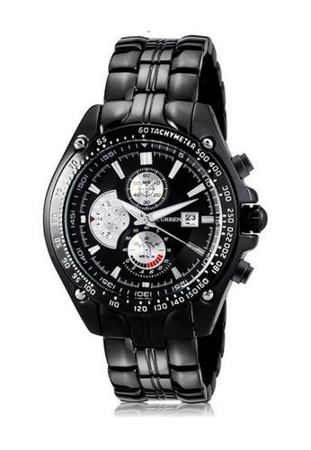 curren black Curren 8083 Men's Stainless Steel Watch (Full Black) CU537AC38RPTMY_1