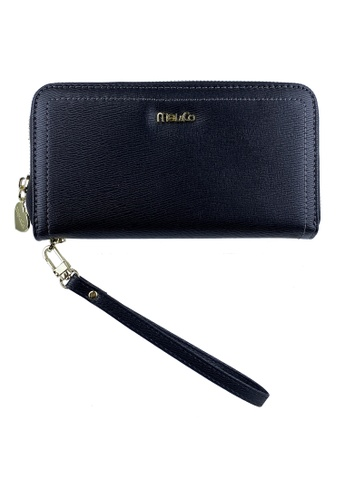 Mel&Co black Zip Around Long Wallet Clutch 25186AC69AA840GS_1