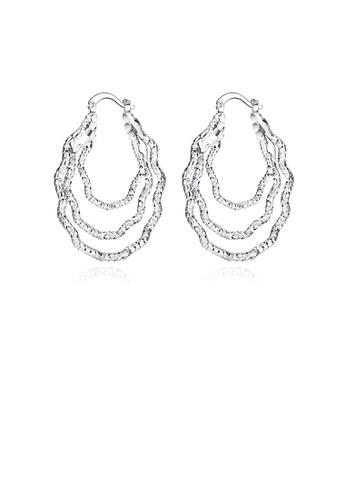 Glamorousky silver Fashion Simple Curved Geometric Earrings 75C3FAC2DB6EB2GS_1