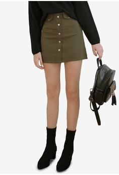 6616c3bd0 Eyescream green Button Down A Line Mini Skirt 4EE86AAF158719GS_1