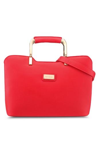 Perllini&Mel red Faux Leather Satchel Top Handle Bag PE444AC0SIZ6MY_1