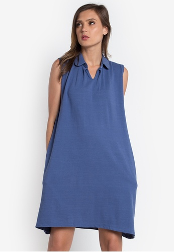 Verve Street blue Layla Dress VE915AA0K9J3PH_1