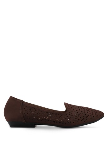 Louis Cuppers brown Perforated Loafers D8418SH7FC4C28GS_1