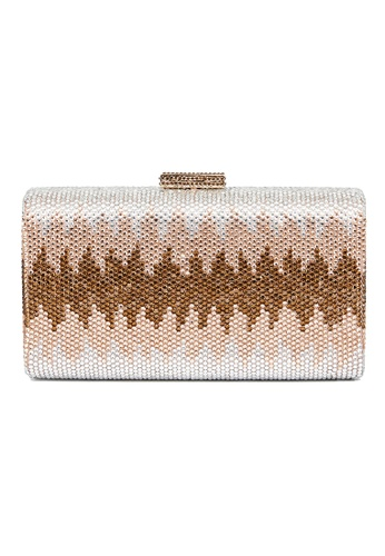 The Chic Initiative pink and gold Nerissa Crystal Clutch (Rose Gold) AE9E8AC909E4DEGS_1