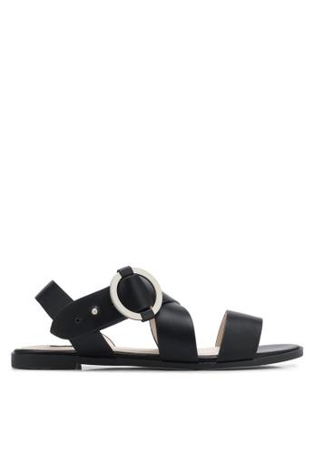 ZALORA black Cross Strap Sandals F3F44SHA08E7FAGS_1