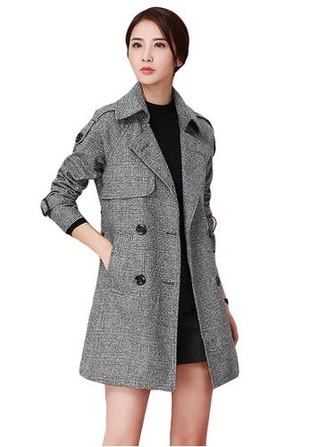 Buy A-IN GIRLS Temperament Lapel Mixed Long Coat | ZALORA HK
