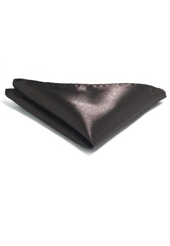 Splice Cufflinks Lustrous Series Burgundy Polyester Pocket Square SP744AC29KVMSG_1