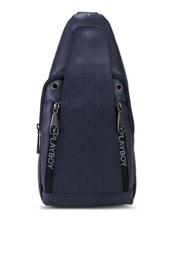Playboy blue Playboy Chest Sling Bag 2A7A2AC7F7B042GS_1
