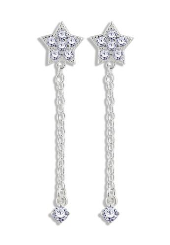 SC Tom Silver silver Star Stud Stone Dangling - TESD096 SC872AC84PFBPH_1
