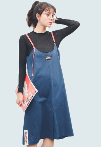 Shopsfashion blue Music Slip Dress SH656AA0GFZISG_1