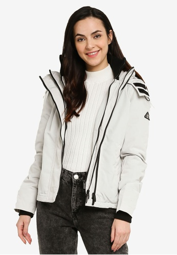 SUPERDRY white Ottoman Arctic Windcheater Jacket C4F34AAC6BE4E7GS_1