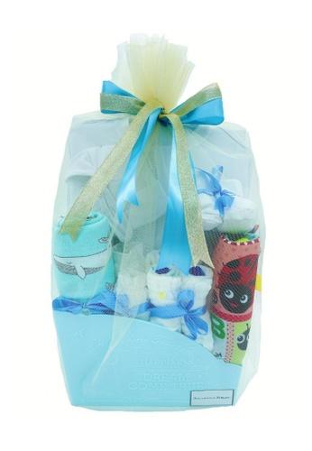 Akarana Baby white and blue Baby Hamper Gift Set - Perfect Gift (Boy) A4DE2KA14F29E5GS_1