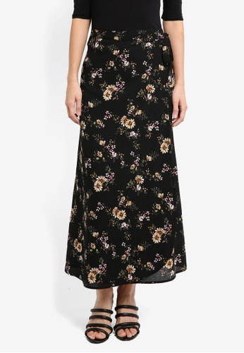 ZALORA black Maxi Wrap Skirt 5B4ADAA1DAD7EBGS_1