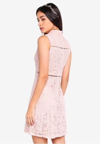 Shop ZALORA Bridesmaid High-neck Lace Pencil Dress Online on ZALORA  Philippines 89f38321d