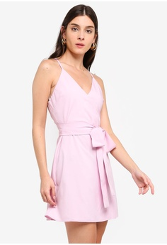 8759cd78d5 ZALORA pink Overlap Tank Dress 3D994AAB9E2089GS 1