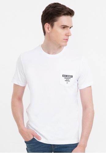 Bossini white Short Sleeve Print Tee E151FAA6858136GS_1