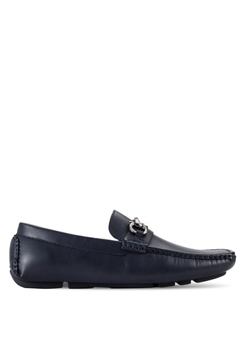 UniqTee blue Loafers With Buckle Detail UN097SH78RQRMY_1
