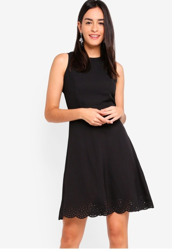 ZALORA black Laser Cut Sleeveless Dress 24F3CAA2FE300DGS_1
