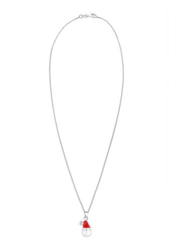 Elli Germany red Necklace Santa Claus 925 Sterling Silver EL474AC0SEUSMY_1