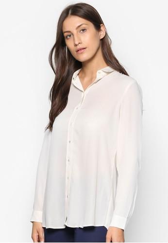 基本款長袖zalora taiwan 時尚購物網襯衫, 服飾, 服飾