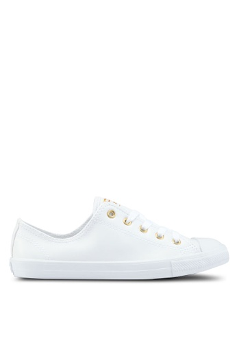 Converse white Chuck Taylor All Star Dainty Craft Ox Sneakers CO302SH54YJTMY_1