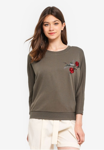 JACQUELINE DE YONG multi Frida Embroidered Sweatshirt 16E08AA668B5ECGS_1