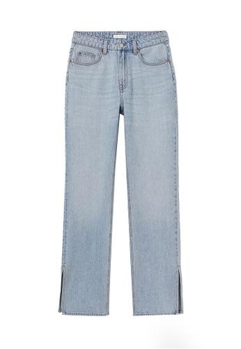 H&M blue Straight High Split Jeans B5D80AA50FEECDGS_1