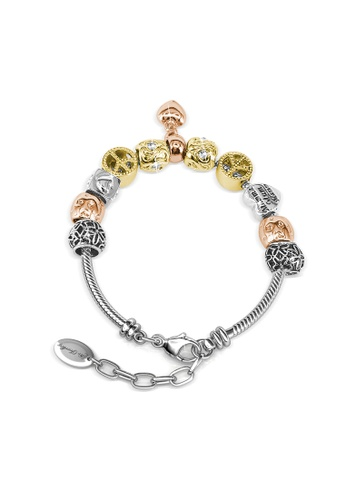 Her Jewellery silver and gold Hubris Charm Bracelet - Crystals from Swarovski® HE210AC0GLSWSG_1