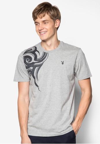 圓領圖案設計Tzalora 男鞋 評價EE, 服飾, 印圖T恤