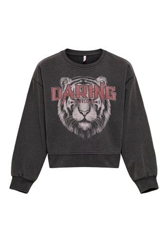 ONLY black Lucinda Long Sleeve Daring/Born Sweatshirt E3D0EKA0A991ADGS_1