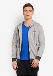 2GO grey Hooded Jacket With Zipper 2G729AA0S5YIMY_1