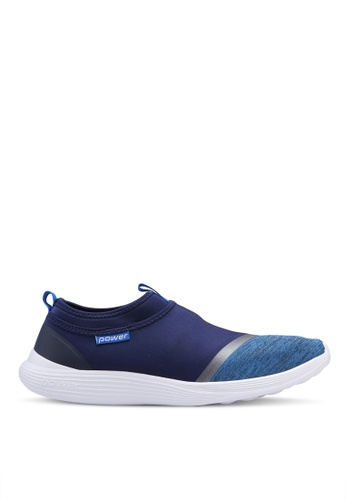 Power blue and navy Athletic Walking Shoes 7A057SH2C50A04GS_1