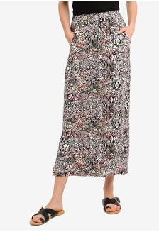 7002595bb8 Buy Dorothy Perkins Ochre Jacquard Hem Midi Skirt Online on ZALORA ...